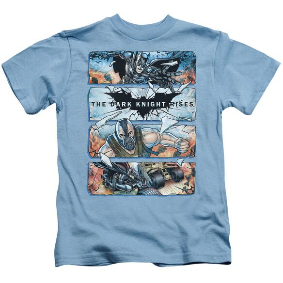 Dark Knight Rises Shattered Glass Short Sleeve Juvenile Carolina Blue T-Shirt