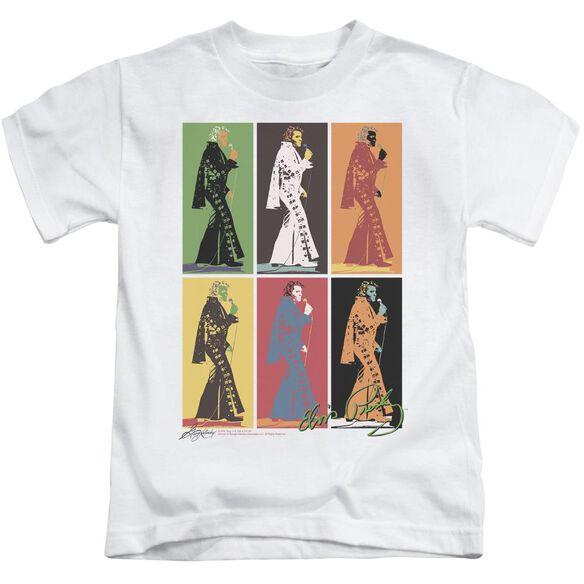 Elvis Retro Boxes Short Sleeve Juvenile White T-Shirt