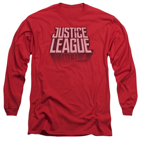 Justice League Movie League Distressed Long Sleeve Adult T-Shirt