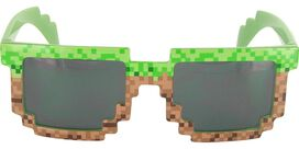 Pixel Brick Green Brown Glasses