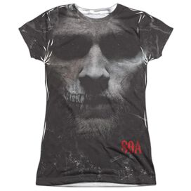 Sons Of Anarchy Jax Skull Short Sleeve Junior Poly Crew T-Shirt