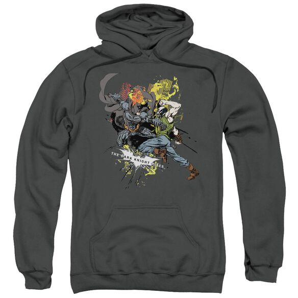 Dark Knight Rises Fight For Gotham Adult Pull Over Hoodie