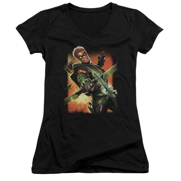 Jla Green Arrow #1 Junior V Neck T-Shirt