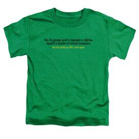 Pickle Jar Short Sleeve Toddler Tee Kelly Green T-Shirt