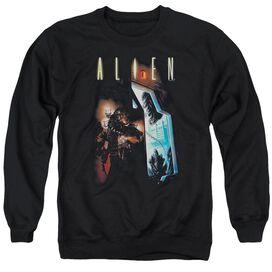 Alien Around The Corner - Adult Crewneck Sweatshirt - Black