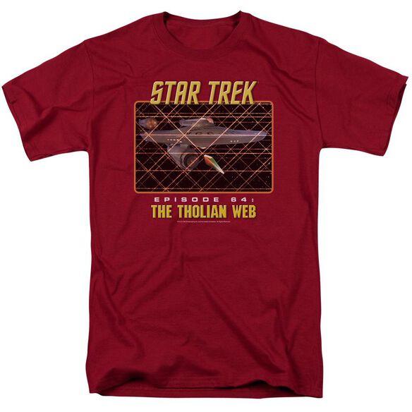 St:Original The Tholian Web Short Sleeve Adult Cardinal T-Shirt