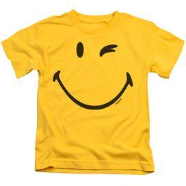 Smiley World Big Wink Short Sleeve Juvenile Yellow T-Shirt