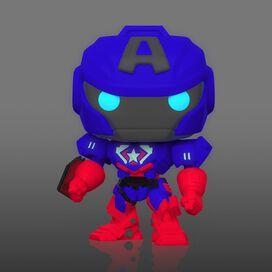 Funko Pop! Marvel: Avengers Mech Strike - Captain America (Glow)