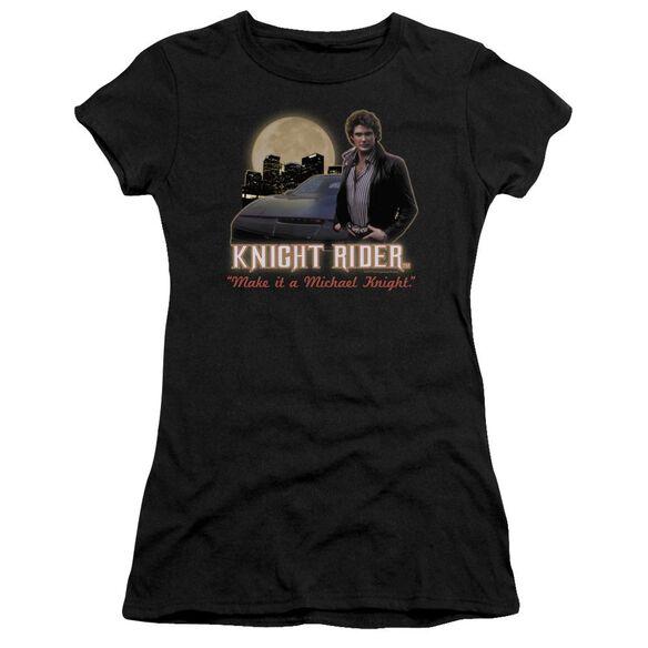 Knight Rider Full Moon Short Sleeve Junior Sheer T-Shirt