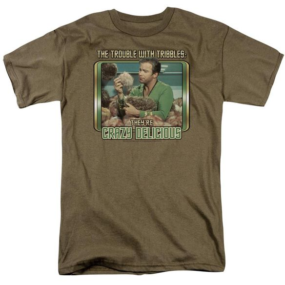 Star Trek Crazy Delicious Short Sleeve Adult Safari Green T-Shirt
