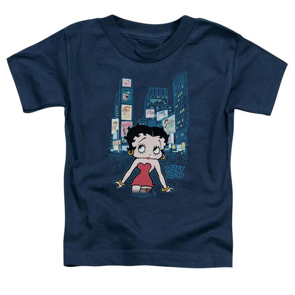 Betty Boop Square Short Sleeve Toddler Tee Navy Md T-Shirt