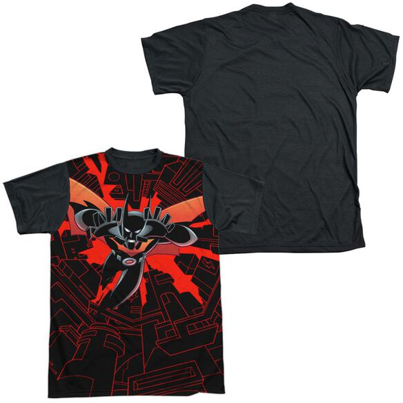 Batman Beyond Drop Down Short Sleeve Adult Front Black Back T-Shirt