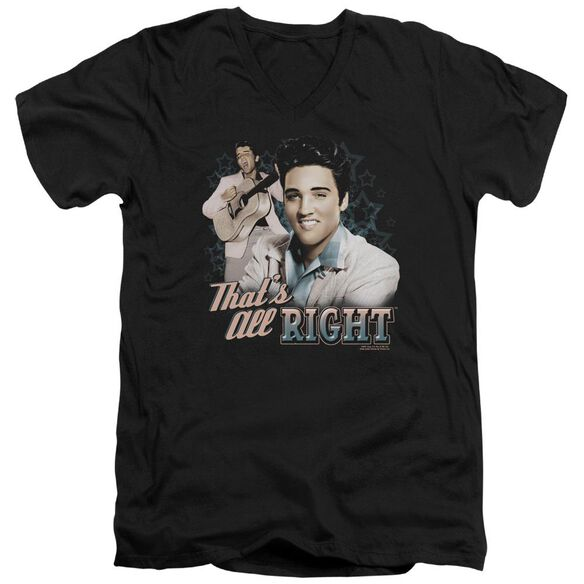 Elvis That's All Right Short Sleeve Adult V Neck T-Shirt