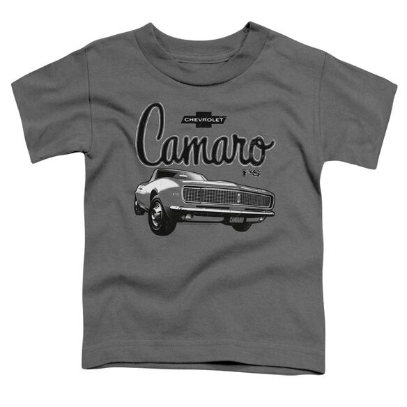 Chevrolet Script Car Short Sleeve Toddler Tee Charcoal T-Shirt