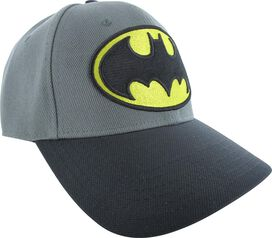 Batman Yellow and Black Logo Gray Flex Hat