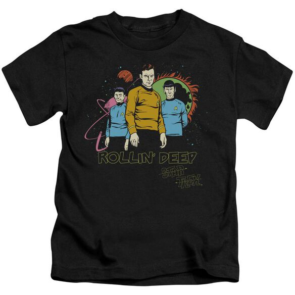 Star Trek Rollin Deep Short Sleeve Juvenile Black T-Shirt