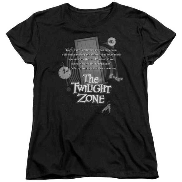 Twilight Zone Monologue Short Sleeve Womens Tee T-Shirt