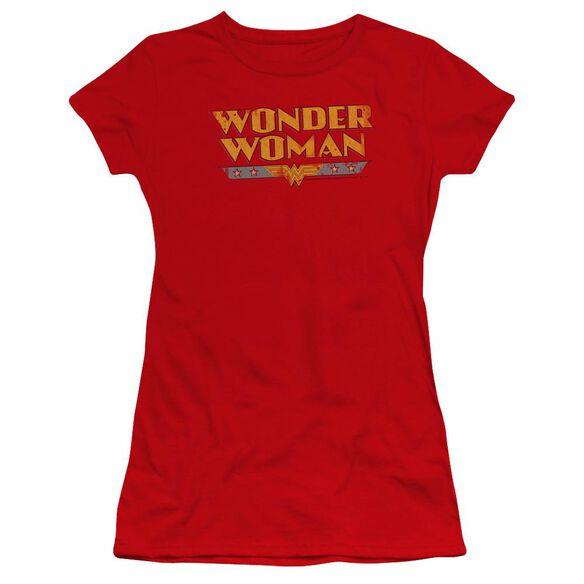 Dc Wonder Woman Logo Premium Bella Junior Sheer Jersey