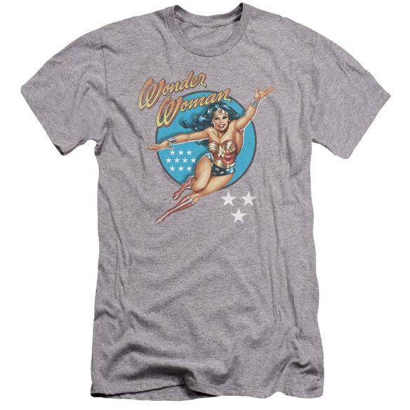 Dco Wonder Woman Vintage Premuim Canvas Adult Slim Fit Athletic