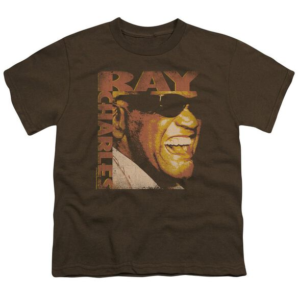 Ray Charles Singing Distressed Short Sleeve Youth T-Shirt