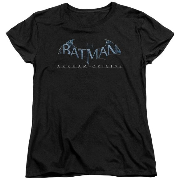 Batman Arkham Origins Logo Short Sleeve Womens Tee T-Shirt