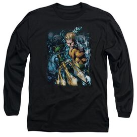 Jla Aquaman #1 Long Sleeve Adult T-Shirt