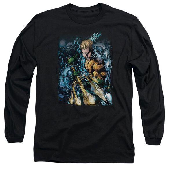 Jla Aquaman #1 Long Sleeve Adult T-Shirt