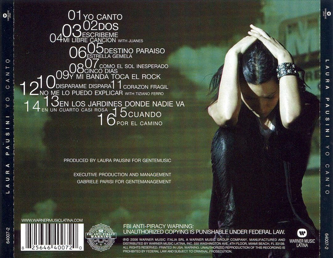 cd laura pausini io canto