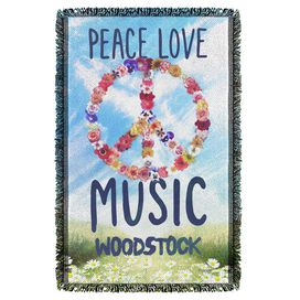 Woodstock Open Love Woven Throw