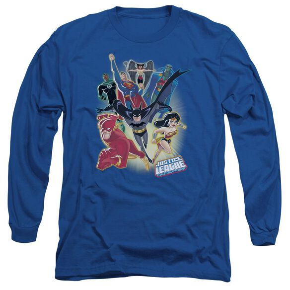 Jla Unlimited Long Sleeve Adult Royal T-Shirt