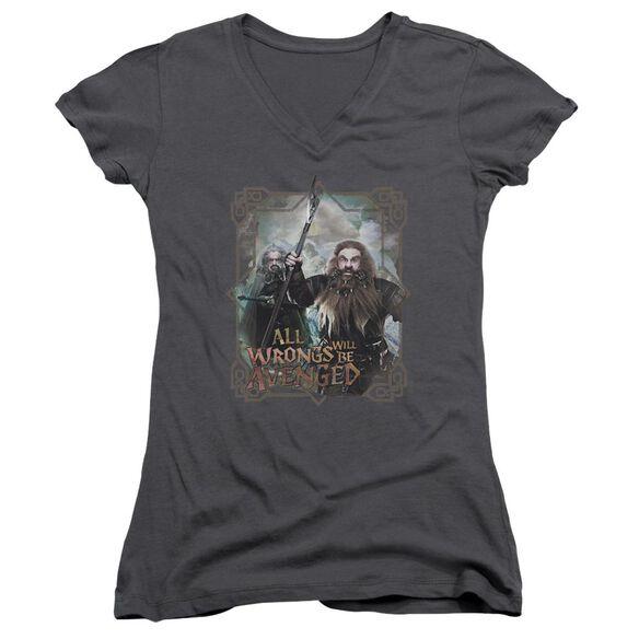 The Hobbit Wrongs Avenged Junior V Neck T-Shirt