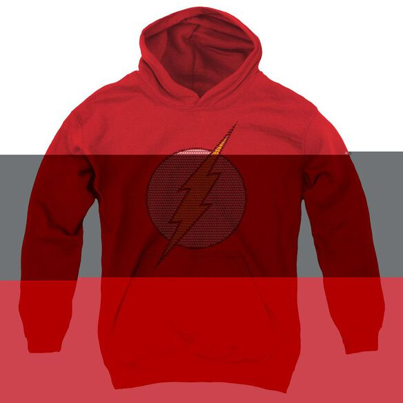 Dc Flash Flash Little Logos-youth Pull-over Hoodie - Red