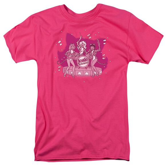 Archie Comics Kitty Band Short Sleeve Adult Hot Pink T-Shirt