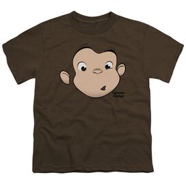 Curious George George Face Short Sleeve Youth T-Shirt