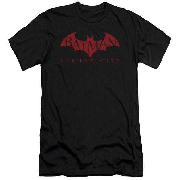 Arkham City Red Bat Short Sleeve Adult T-Shirt