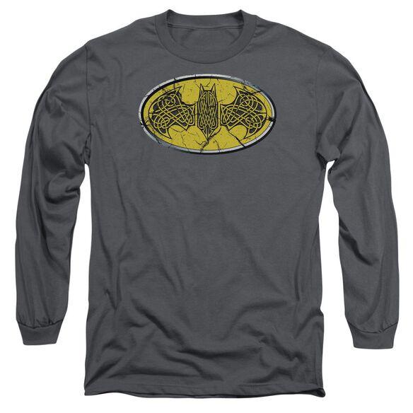 Batman Celtic Shield Long Sleeve Adult T-Shirt