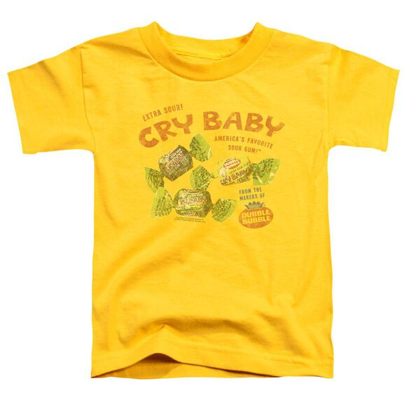 Cry Babies Vintage Ad Short Sleeve Toddler Tee Yellow T-Shirt