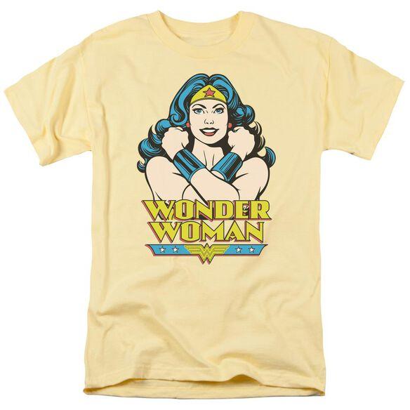 Dc Wonder At Large Short Sleeve Adult Banana T-Shirt