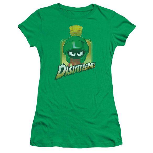 Looney Tunes Disintegrate Short Sleeve Junior Sheer Kelly T-Shirt