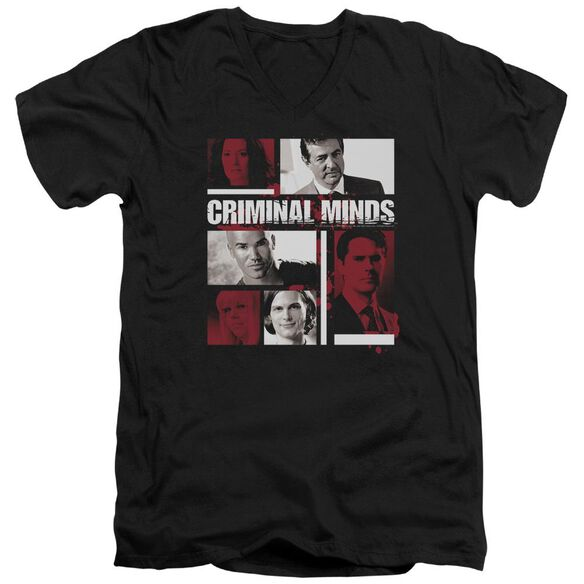 Criminal Minds Character Boxes Short Sleeve Adult V Neck T-Shirt