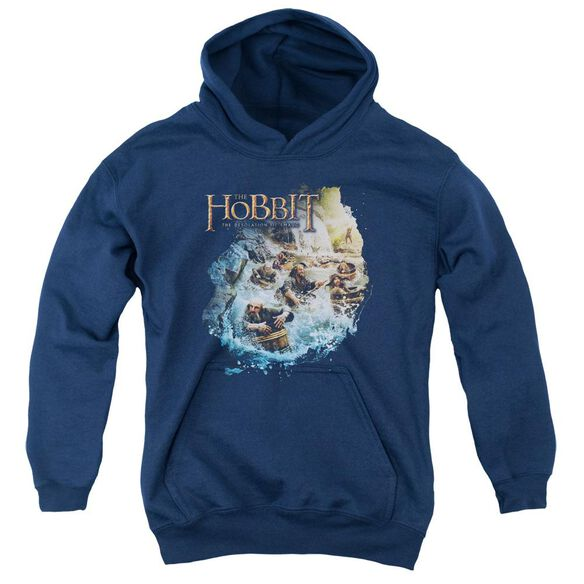Hobbit Barreling Down Youth Pull Over Hoodie