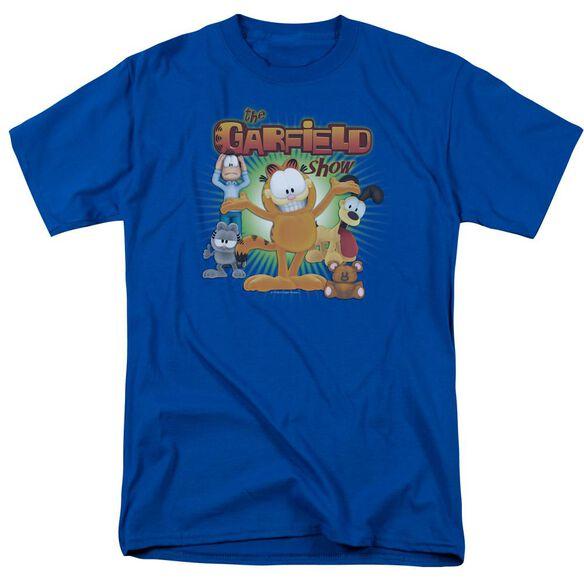 Garfield The Garfield Show Short Sleeve Adult Royal T-Shirt