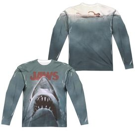 JAWS POSTER (FRONT/BACK PRINT)-L/S ADULT POLY T-Shirt