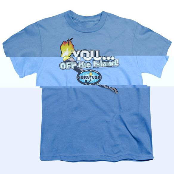 SURVIVOR YOU OFF THE ISLAND - S/S YOUTH 18/1 - CAROLINA BLUE T-Shirt