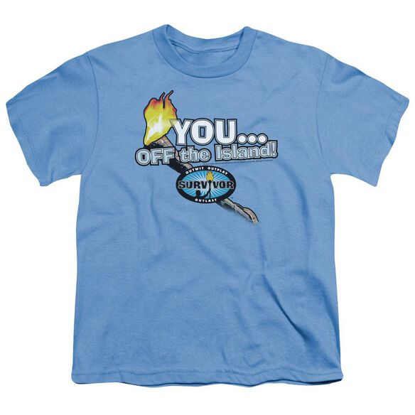 SURVIVOR YOU OFF THE ISLAND - S/S YOUTH 18/1 - CAROLINA BLUE T-Shirt