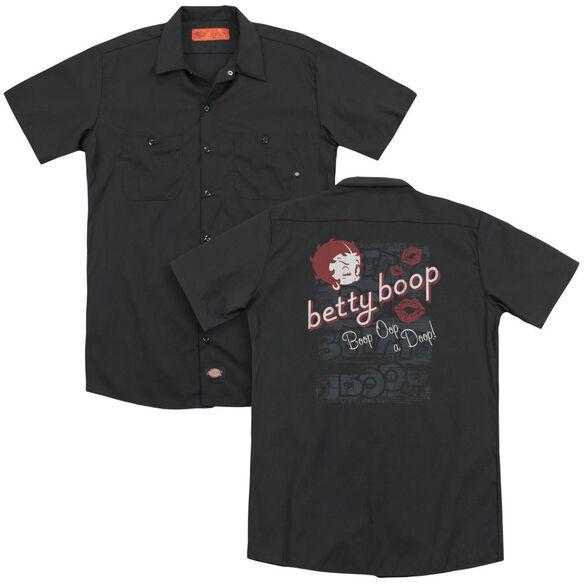 Betty Boop Boop Oop (Back Print) Adult Work Shirt