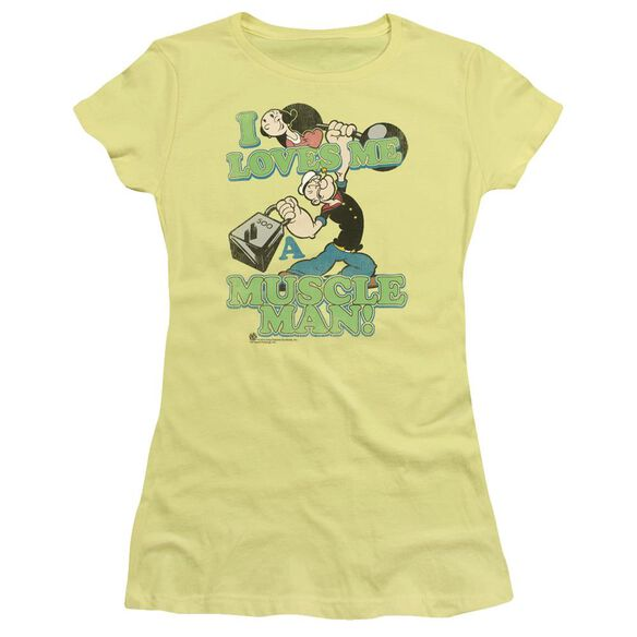 POPEYE MUSCLE MAN - S/S JUNIOR SHEER - BANANA T-Shirt