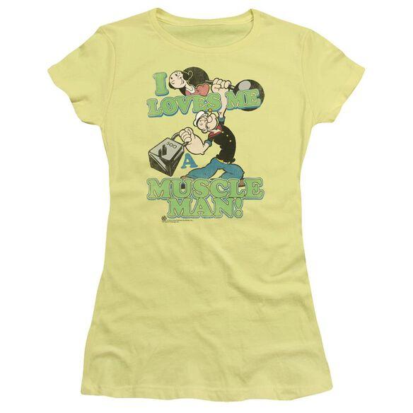 Popeye Muscle Man Short Sleeve Junior Sheer T-Shirt