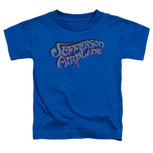 Jefferson Airplane Gradient Logo Short Sleeve Toddler Tee Royal Blue T-Shirt