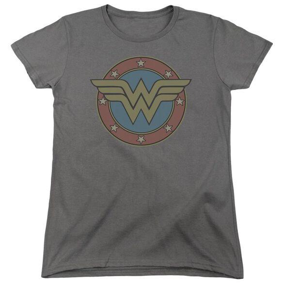 Dc Ww Vintage Emblem Short Sleeve Womens Tee T-Shirt